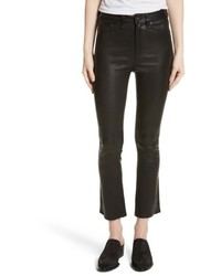 Rag & Bone Jean Hana Crop Flare Leather Pants