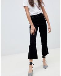 Miss Selfridge Kick Flare Trousers In Black