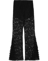 Givenchy Lace Flared Pants Black