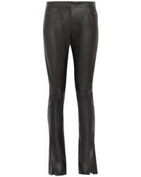 Loewe Leather Flared Pants Black