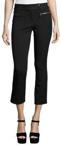 Veronica Beard Metro Cropped Kick Flare Pants Black