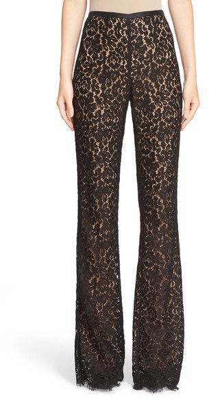 Michael Kors Michl Kors Floral Lace Flare Pants