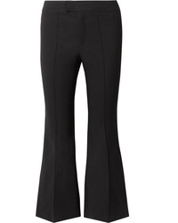 Isabel Marant Nyree Cropped Cotton Blend Flared Pants