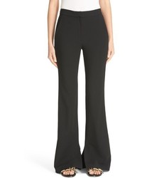 Tibi Piped Detail Flare Leg Pants