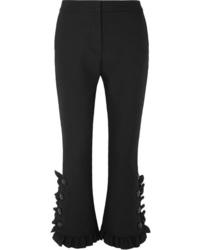 MSGM Ruffled Crepe Slim Leg Pants