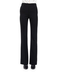 Saint Laurent Slightly Flared High Waist Pants Black