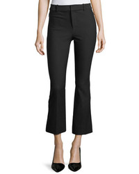Derek Lam 10 Crosby Stretch Cotton Cropped Flare Trousers