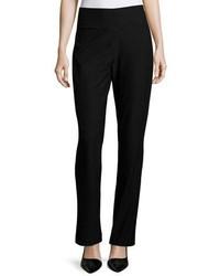 Eileen Fisher Stretch Crepe Boot Cut Pants Black