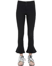 Isabel Marant Stretch Gabardine Cropped Flared Pants