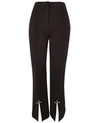 Topshop Stud Hem Kick Flare Cropped Trousers