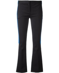 Versace Appliqu Stripe Flared Trousers