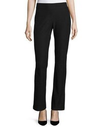 Eileen Fisher Washable Crepe Boot Cut Pants Black Petite