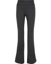 Rosetta Getty Wool Jersey Flared Pants Black