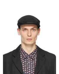 Comme Des Garcons SHIRT Black Lochcarron Edition Wool Flat Cap
