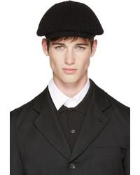 Comme des Garcons Comme Des Garons Shirt Black Knit Flat Cap