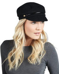 Eugenia Kim Elyse Angora Marine Cap Black
