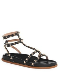Valentino Garavani Rockstud Flatform Sandal