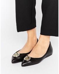 Love Moschino Metal Trim Flat Shoes