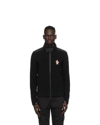 MONCLER GRENOBLE Black Cardigan Jacket