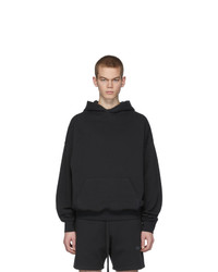 Essentials Black Fleece Hoodie