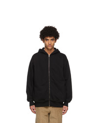Acne Studios Black Fleece Oversized Zip Hoodie