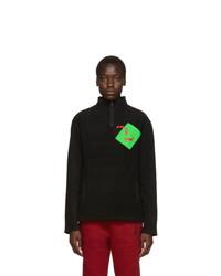 Polythene* Optics Black Fleece Quarter Zip Sweatshirt