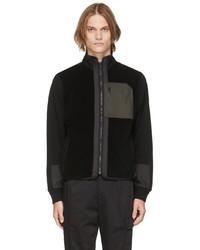 Z Zegna Black Techmerino Full Zip Sweatshirt