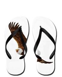 Artsmith Inc Flip Flops Bald Eagle Flying