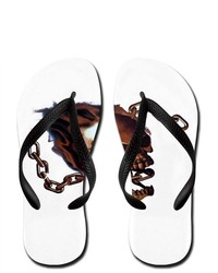 Artsmith Inc Flip Flops Skull With Chain