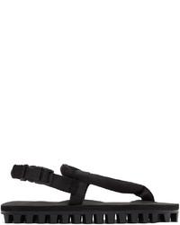 Suicoke Black Gut Flip Flops