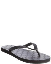 Gucci Black Ssima Rubber Thong Flip Flops