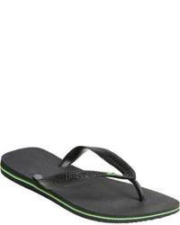 Havaianas Brazil Flip Flops Black