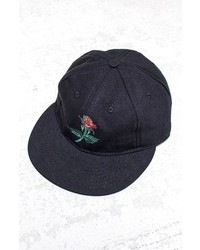 Ebbets Field Red Rose Baseball Cap Black Red Rose One Size