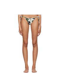 Dolce And Gabbana Black Lilium String Bikini Bottom