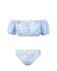 Lisa Marie Fernandez Leandra Floral Denim Bikini