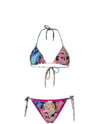 Etro Mixed Paisley Print Bikini Set