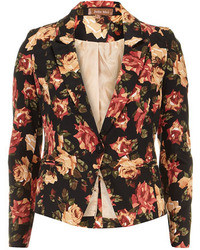 Dorothy Perkins Black Floral Print Blazer