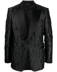 Tom Ford Floral Pattern Single Breasted Blazer