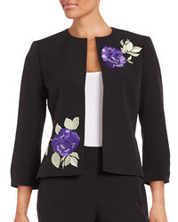 Nipon Boutique Embroidered Floral Blazer