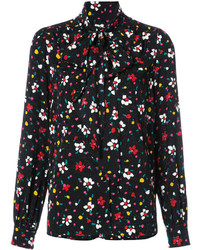 Marc Jacobs Floral Tie Neck Blouse