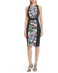 London akva kensington floral body con dress medium 4136813