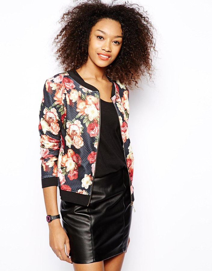 Vero Moda Floral Bomber Jacket | Where to buy & how to wear