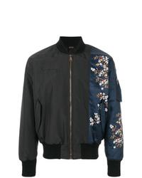 N°21 N21 Flower Print Patch Bomber Jacket