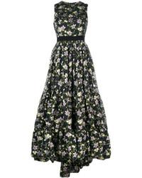 Alexander McQueen Floral Brocade Gown