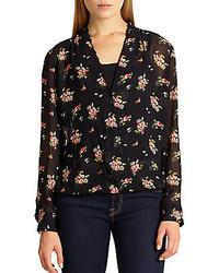 Antonette floral print chiffon blouse medium 156701