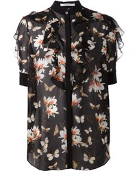 Givenchy Sheer Floral Print Blouse
