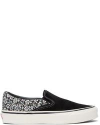 Vans Black White Micro Daisy Og Classic Slip On Lx Sneakers