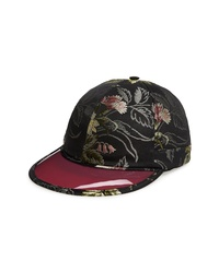 Gucci Brocade Baseball Cap With Vinyl Brim