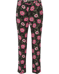 Marni Floral Print Faille Pants Black