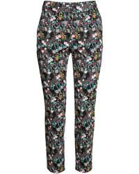 H&M Slacks Blacksmall Floral Ladies